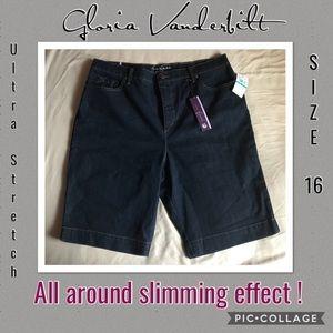 NWT Gloria Vanderbilt Ultra Stretch Bermuda Shorts